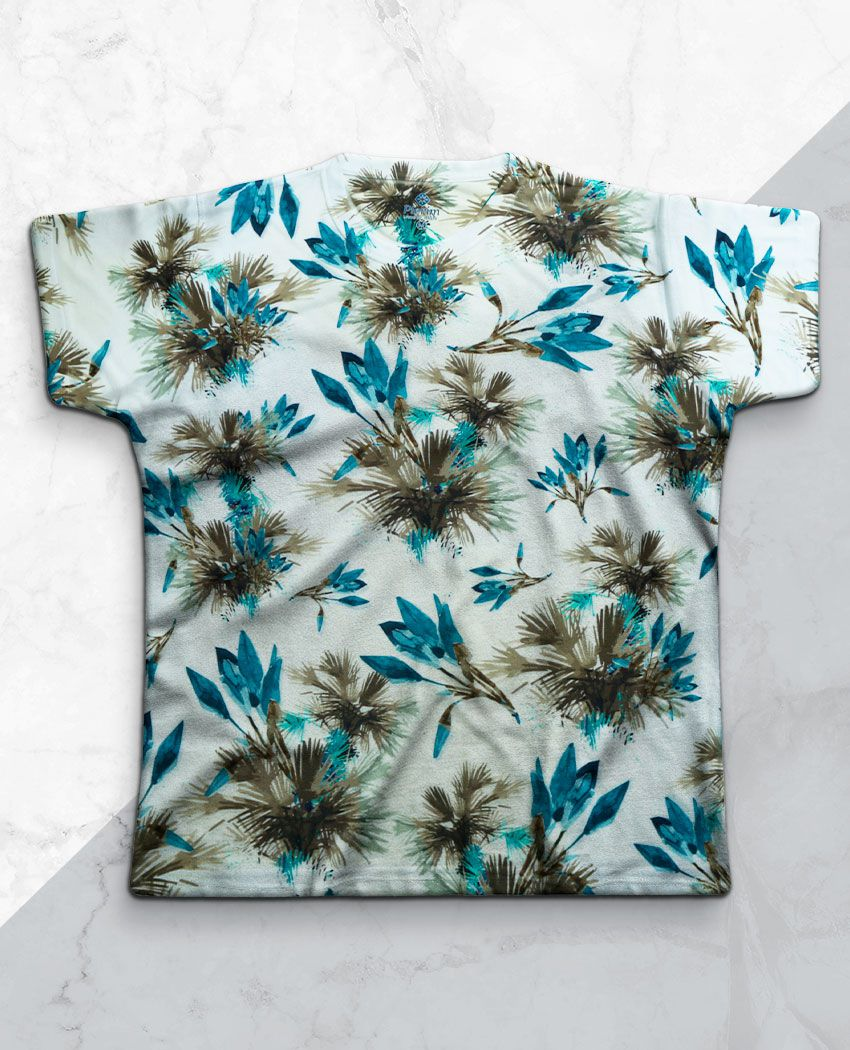 T-Shirt Blue Palms