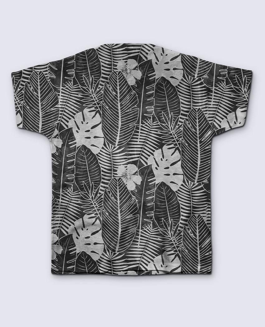 T-Shirt Folhagem P&B