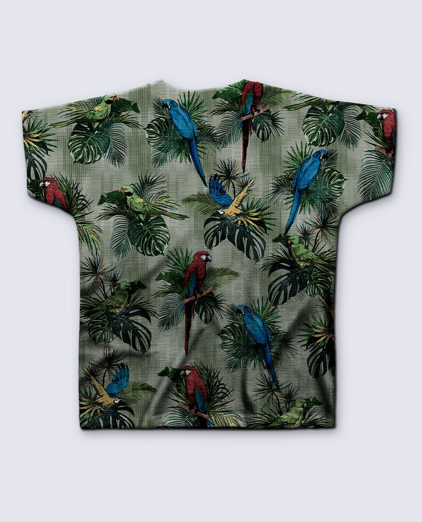 T-shirt Infantil Araras e Folhagens