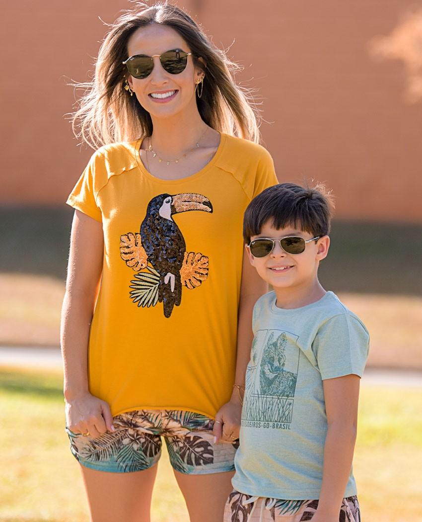 T-shirt Infantil Lobo-Guará