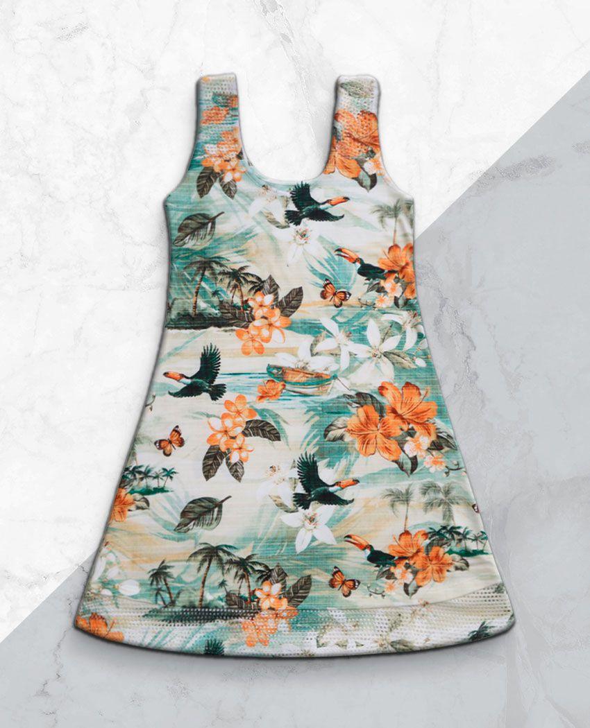 Vestido Barra Arrastão Tropical Suave