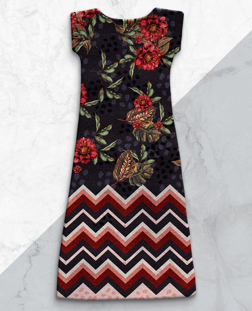 Vestido Floral Marinho