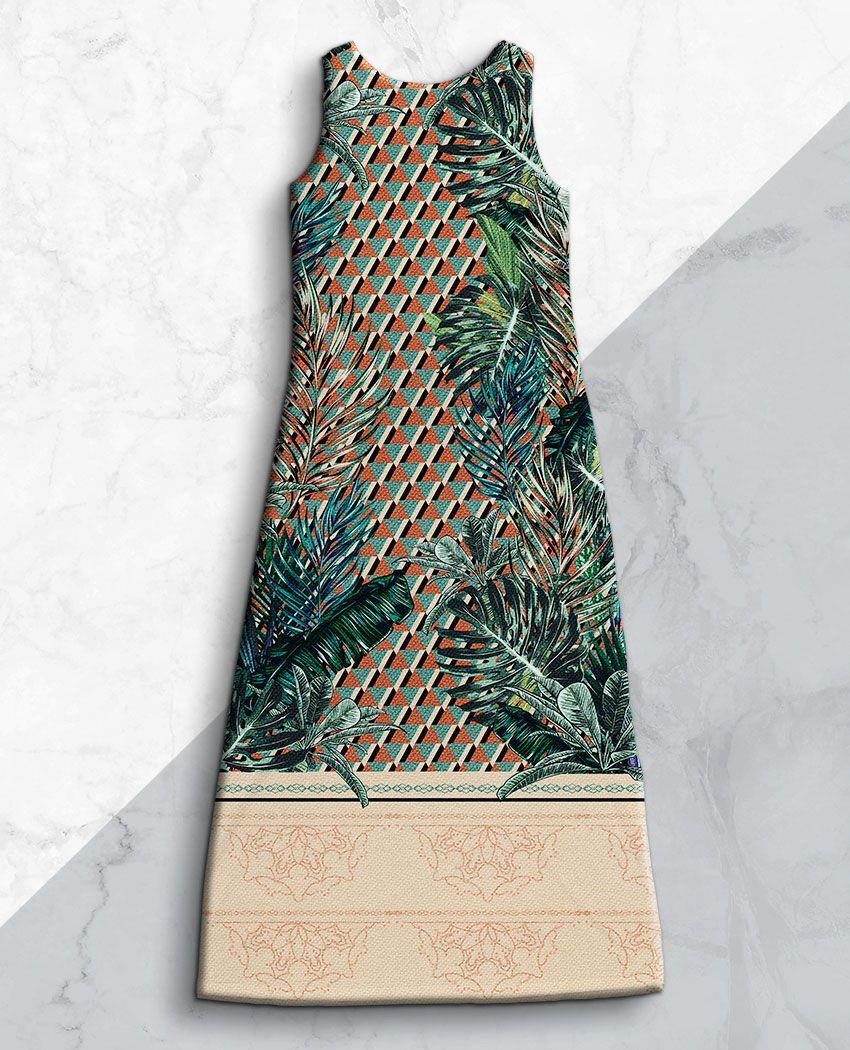 Vestido Folhagens Geomátrico