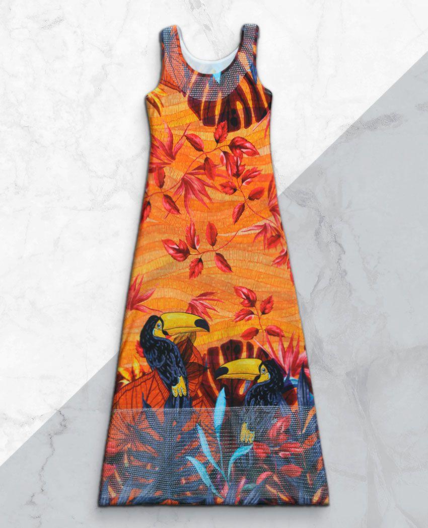 Vestido Longo Tucanos Verão Det Arrastão