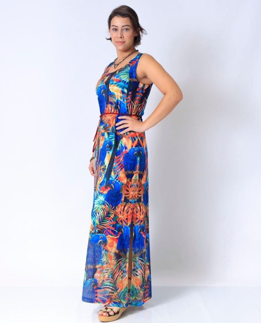 Vestido Longo Varias Araras Det Arrastão
