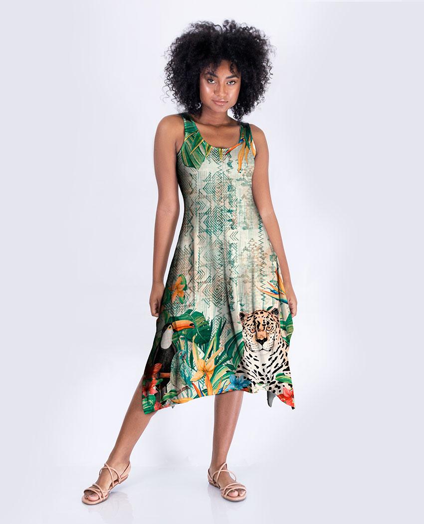 Vestido Midi Natureza Étnica