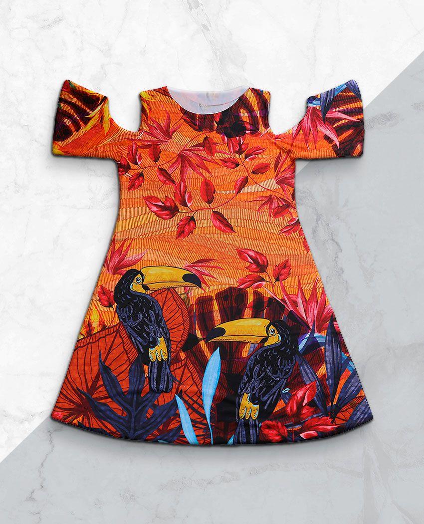 Vestido Ombro Vazado Tucanos Verão