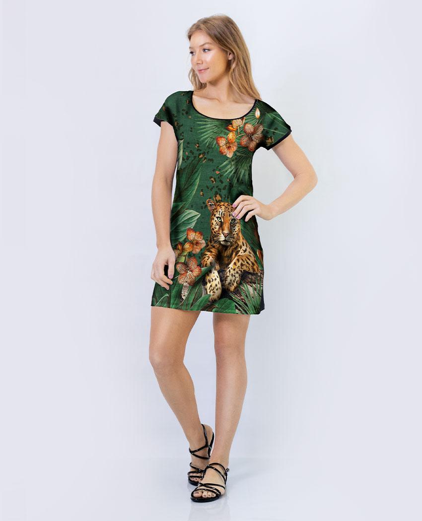 Vestido Cetim Onça Formosa