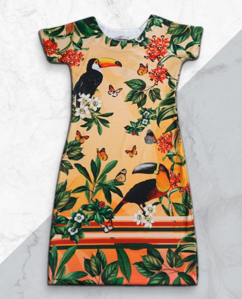 Vestido Tubinho Tucanos Planejados