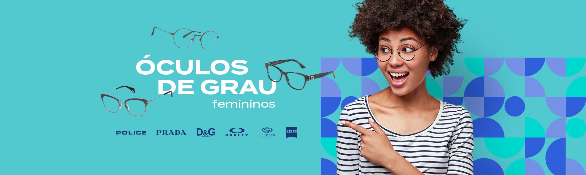Banner óculos grau feminino
