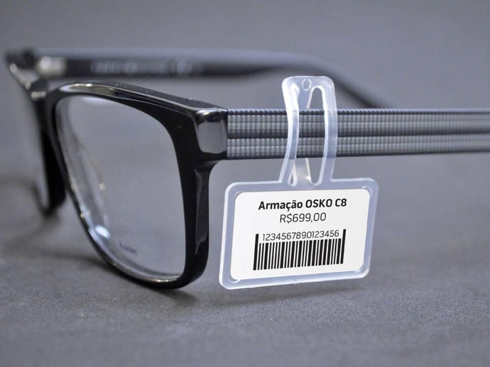 Suporte de etiqueta para óculos - 2.000 Peças