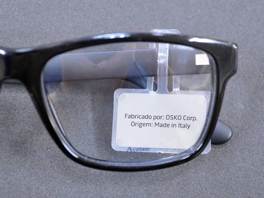 Suporte de etiqueta para óculos - 500 Peças