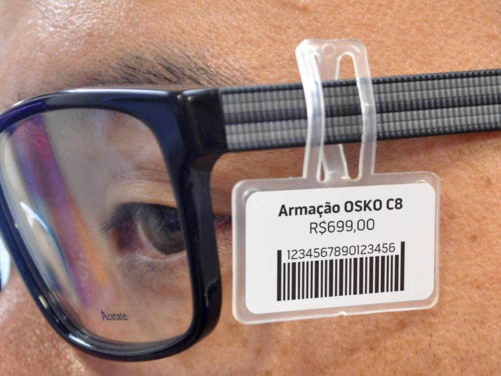 Suporte de etiqueta para óculos - 50 Peças