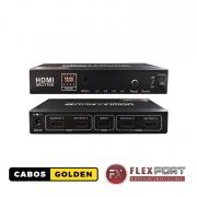 Distribuidor HDMI 1 entrada 4 saídas 4Kx2K@60HZ 4:4:4 - 18Gbps