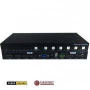 Switch Scaler HDMI 5x1 4K60 com áudio