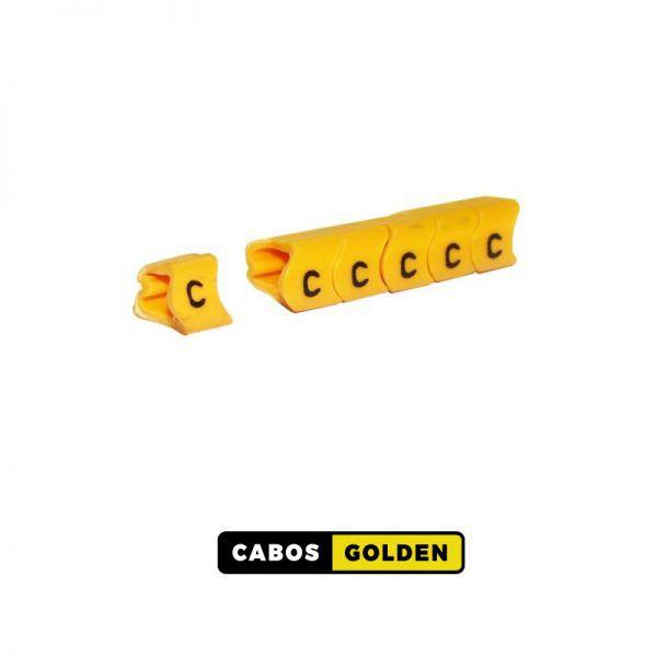 ANILHA PARA CABO ATÉ 10mm² - 100 peças por Nº ou Letra