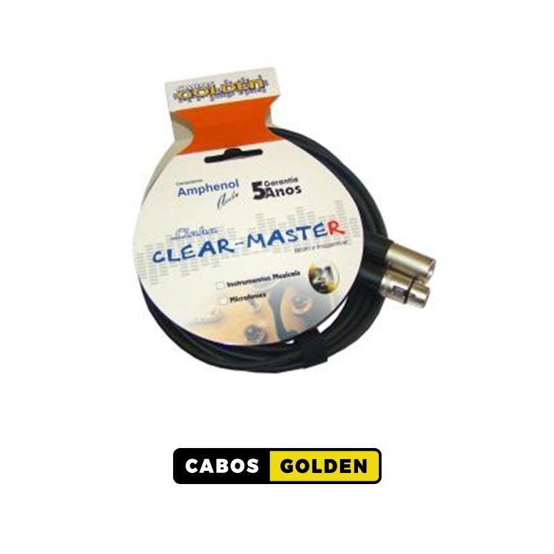 CABO DE MICROFONE LINHA CLEAR MASTER CABO MICROFONE XLR X XLR