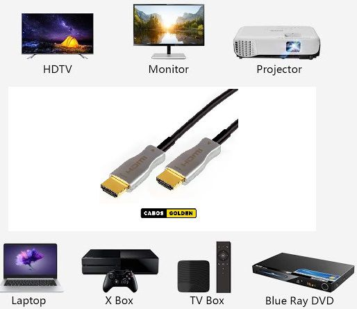 CABO DE VIDEO HDMI (FIBRA) 2.0 18Gbps 4K 60hz HDR ÓPTICO