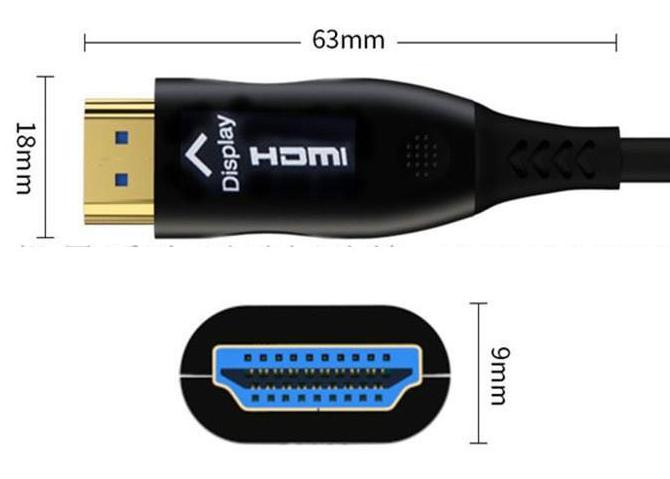 CABO DE VIDEO HDMI (FIBRA) 2.0 18Gbps 4K 60hz HDR ÓPTICO