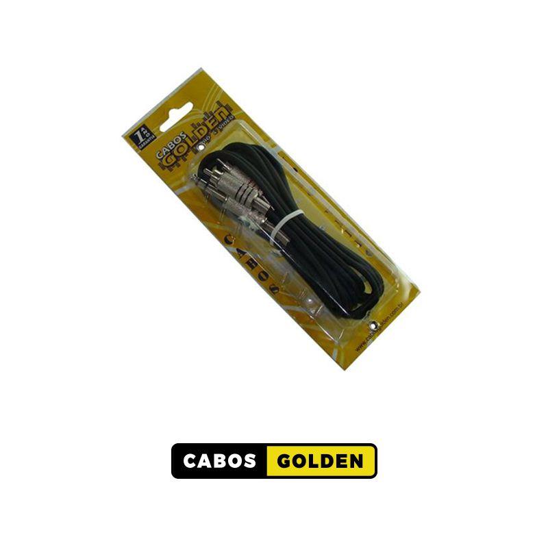CABOS DE ÁUDIO PARA LIGAÇÃO APARELHAGEM 1 P10 ST X 2 RCA METAL