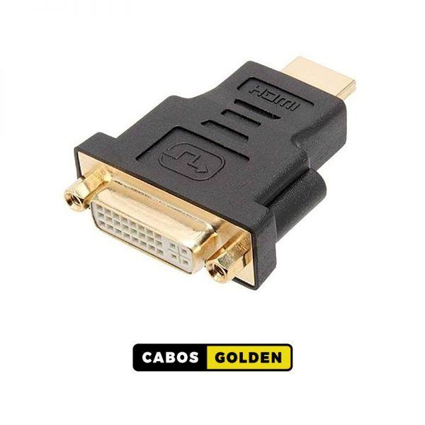 ADAPTADOR - DVI - D Fêmea X HDMI Macho