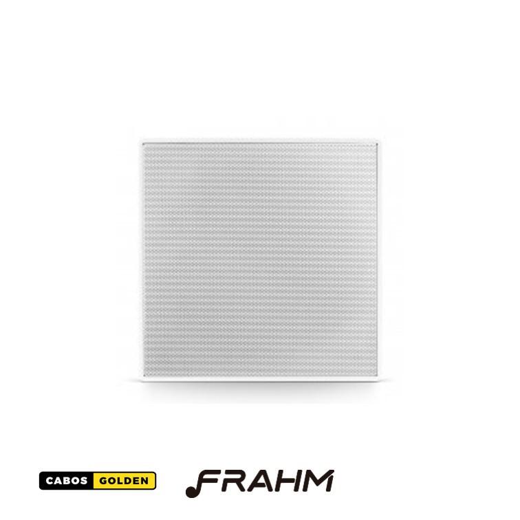 """Caixa de Som de Embutir Frahm - 6"""" Coaxial Quadrada c/ Telar de Alumínio 50W"""