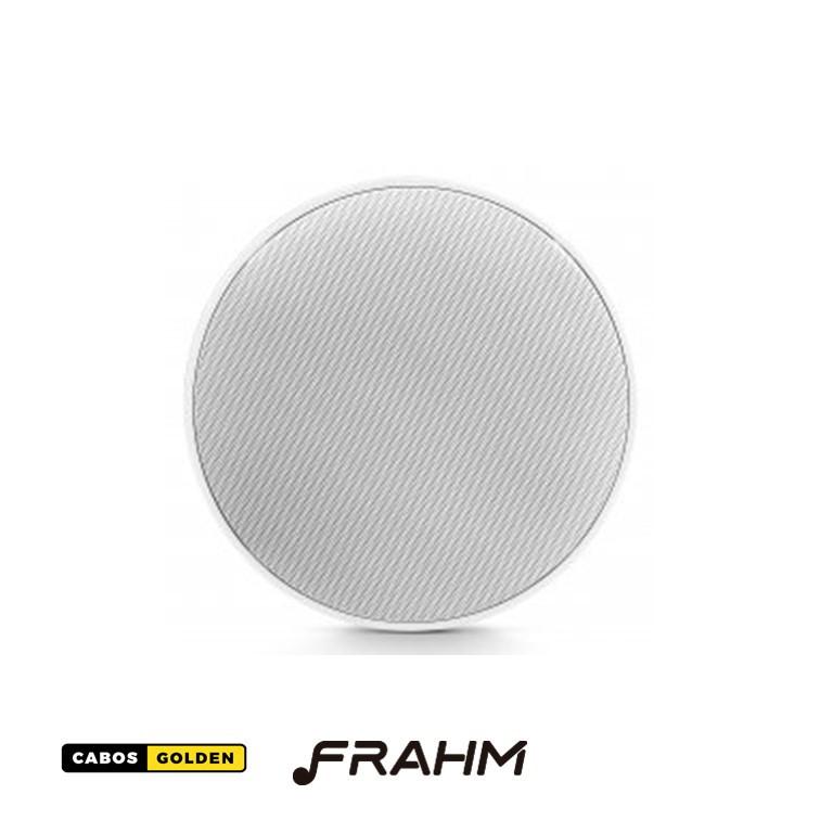"Caixa de Som de Embutir Frahm - Arandela 6"" Coaxial Redonda Telar de Alumínio 80W"