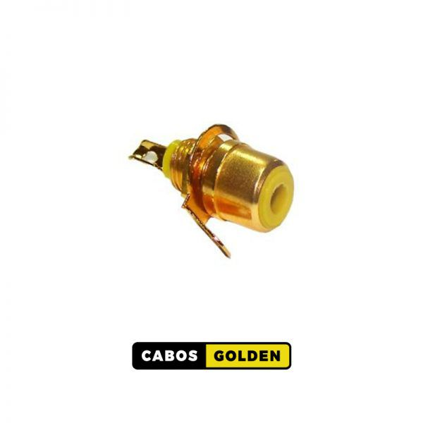 CONECTOR RCA JACK PAINEL OURO VM, AM, BR