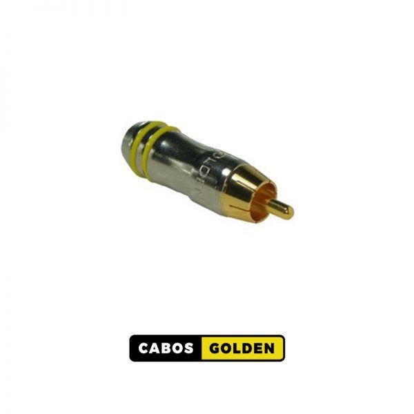 CONECTOR RCA OURO 24K O. BR. PROF. (Golden)
