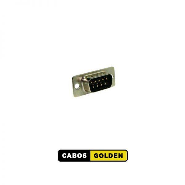 CONECTORES DB e RS232 CONECTOR DB9 Macho P/CABO/PAINEL