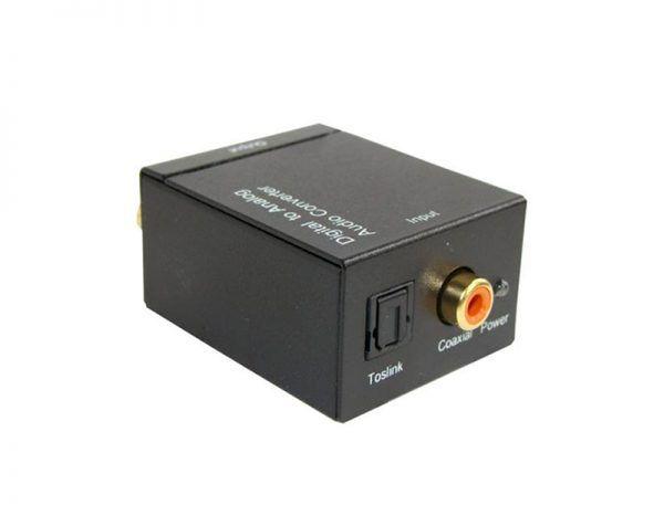 Conversor Óptico Toslink para ÁUDIO L&R