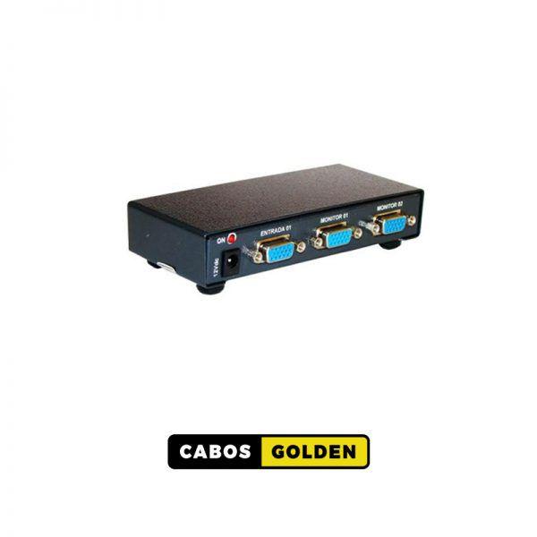 Distribuidor DVI-D Dual Link 340Mhz 1 entrada e 2 saídas 4k2k@30HZ 4:2:0 10,2Gbps