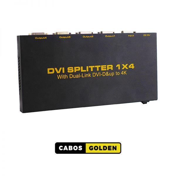 Distribuidor DVI-D Dual Link 340Mhz 1 entrada e 4 saídas 4k2k@30HZ 4:2:0 10,2Gbps