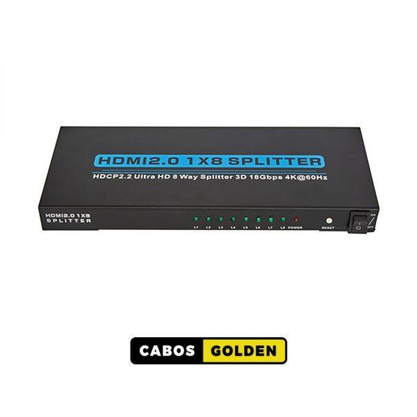 Distribuidor HDMI 1 entrada 8 saídas 4Kx2K@60HZ 4:4:4 - 18Gbps