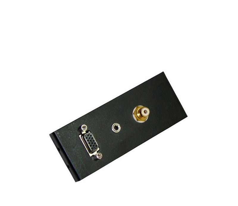 Espelhos de Acabamento Áudio e Vídeo Espelho de áudio e vídeo (VGA+ P2 ST+RCA)