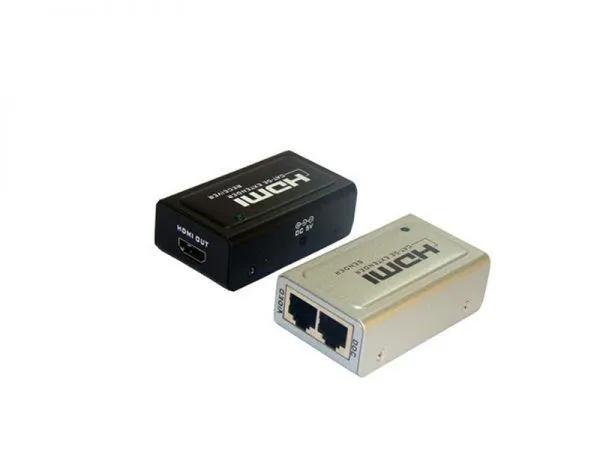 Extender HDMI 40m 1080p (3D) chega até70m (2 Vias cabo de rede)