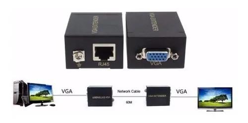 Extender Vga 60 metros (Transmissor e Receptor)