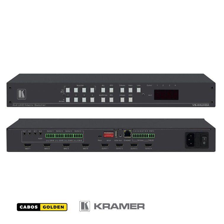 Matriz 4x4 4K60 4: 2: 0 HDMI com incorporação / remoção de áudio