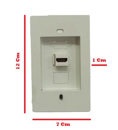Painéis de Acabamento Áudio e Vídeo Painel 4 x 2: HDMI + RJ45