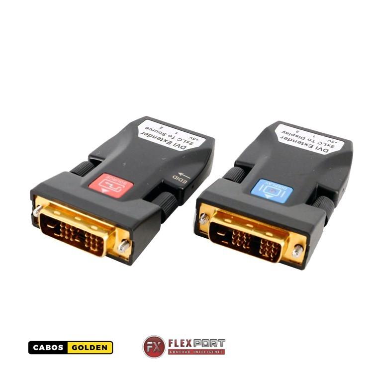 Transmissor e Receptor DVI para 2 km com 2 Vias LC 4K30Hz