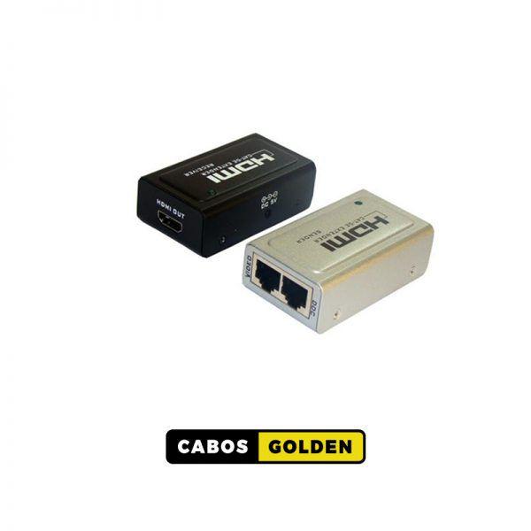 Transmissor e receptor HDMI 40m 1080p (3D) chega até70m (2 Vias cabo de rede)
