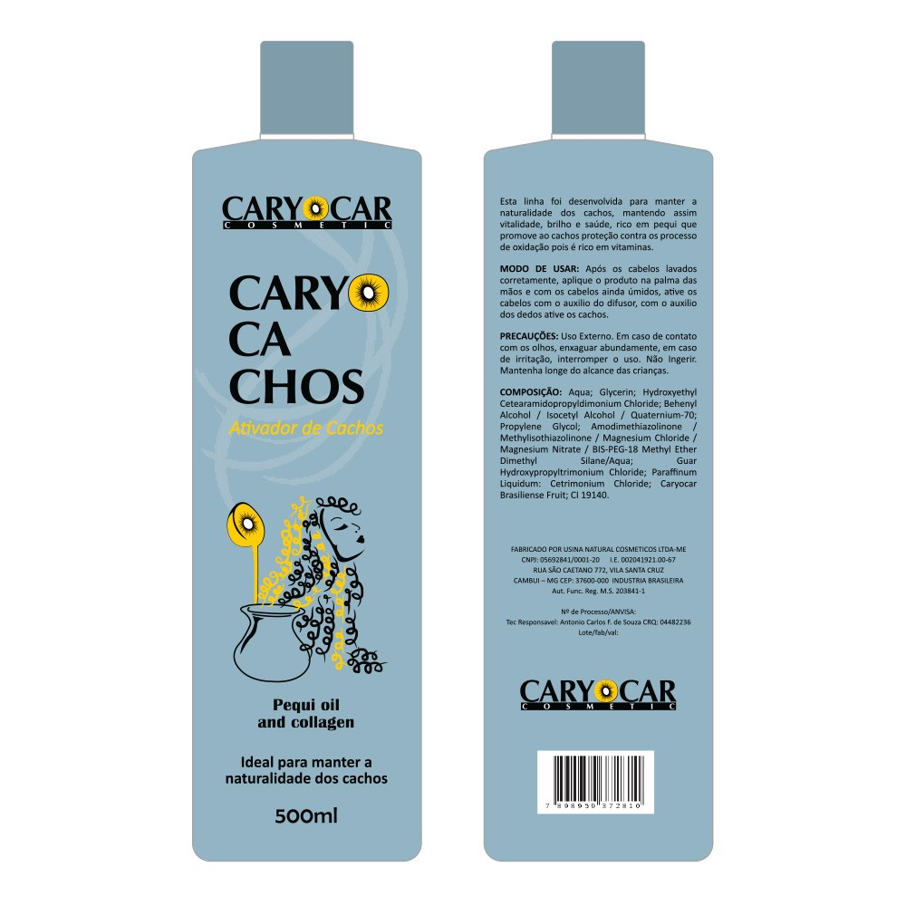 Ativador de Cachos Pequi Oil and Collagen Caryocachos 500ml