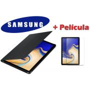 Capa Original Samsung Book Cover Galaxy Tab S4 10.5 SM-T830 SM-T835 Com Película de Vidro