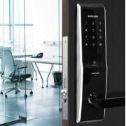 Fechadura Digital Embutida Samsung SHS-H705 com Biometria Até 110 Usuários