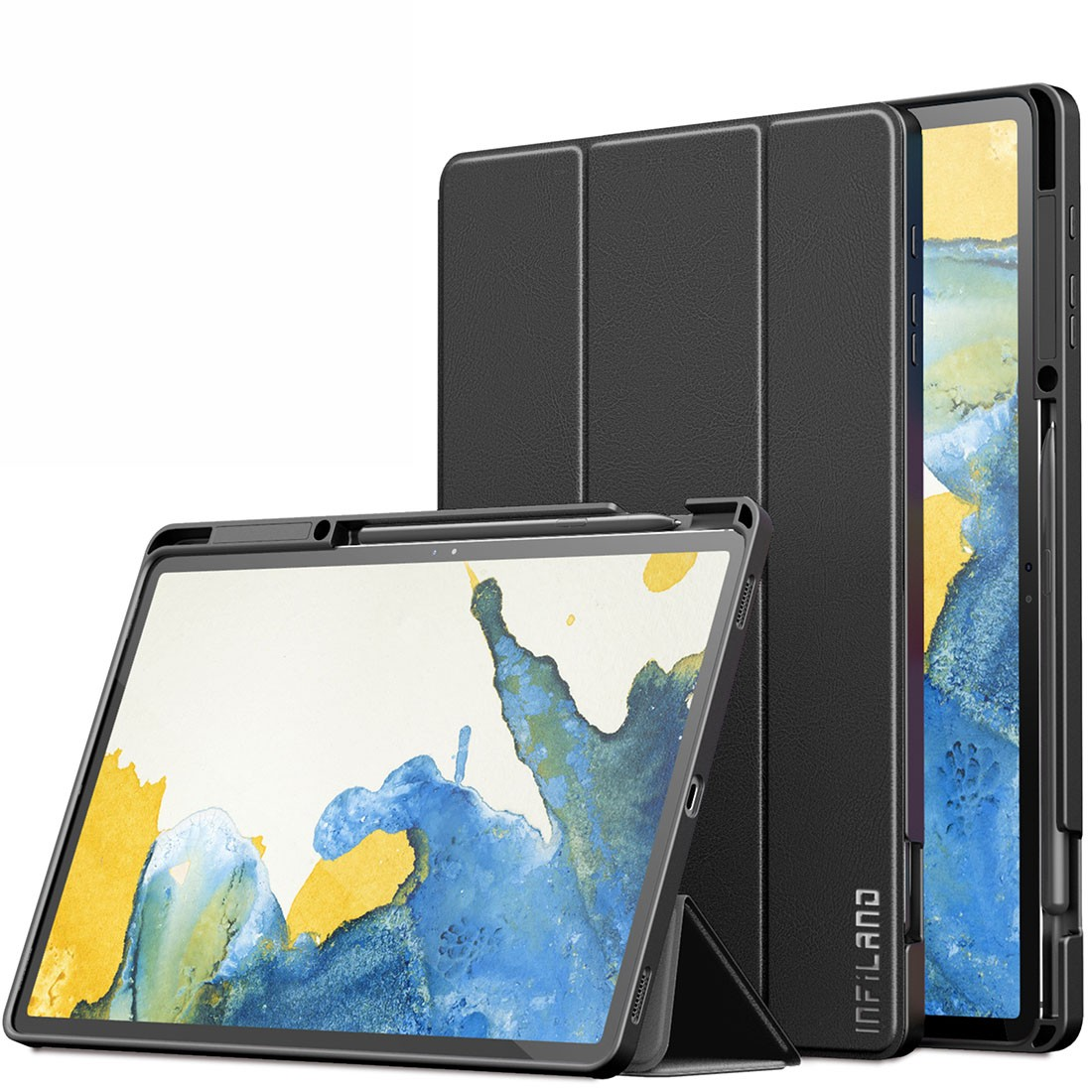 Capa Anti Impacto com Fino Acabamento Galaxy Tab S7 Plus 12.4 pol 2020 SM-T970 e SM-T975