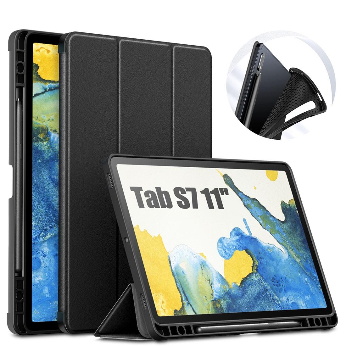 Capa Premium Anti Impacto Fino Acabamento Galaxy Tab S7 11 pol 2020 SM-T870 e SM-T875