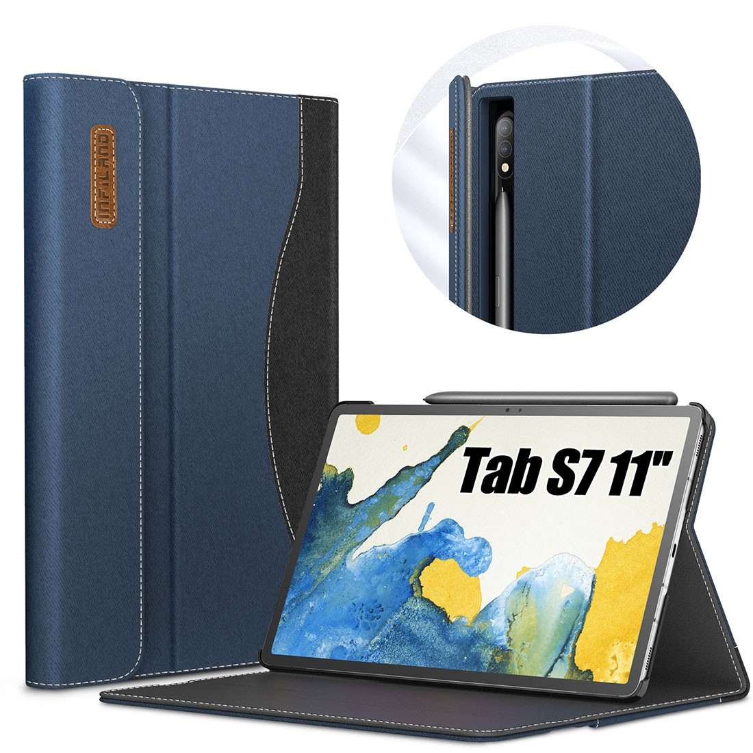 Capa Premium Business Series Samsung Galaxy Tab S7 11 pol SM-T870 e SM-T875