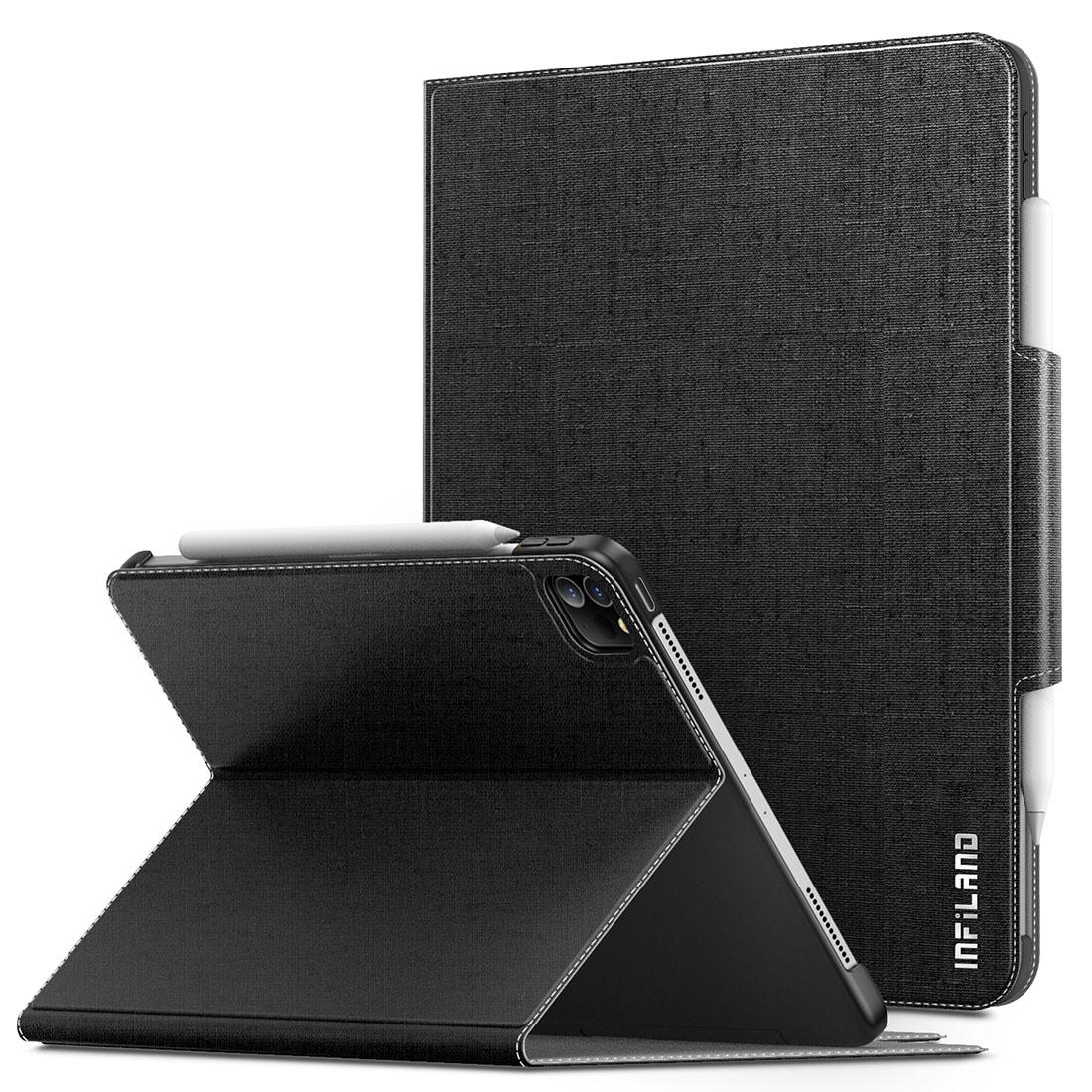 Capa Premium Classic Séries iPad Pro 11 2020 2ªg A2228 A2068 c/ Função Wake Sleep e Suporte Apple Pencil