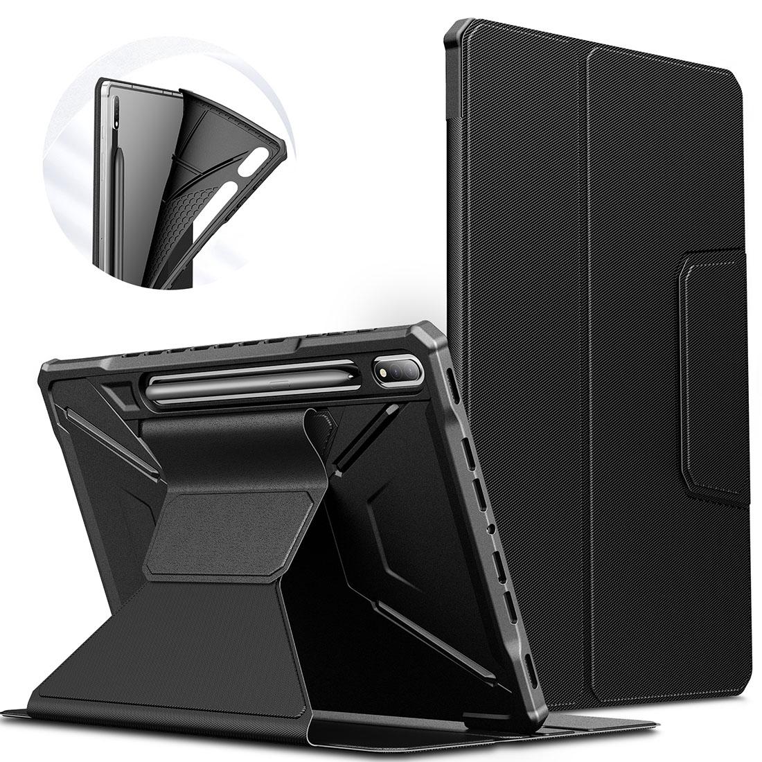 Capa Premium Flex Cover Tab S7 FE 12.4 pol 2021 SM-T730 c/ Função Wake Sleep e Suporte S pen  - HARS
