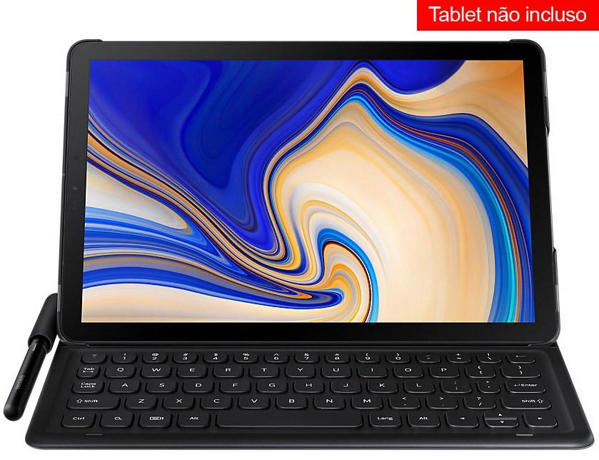Capa Teclado Original p/ Samsung Galaxy Tab S4 10.5 T830 T835 - Tablet não incluso